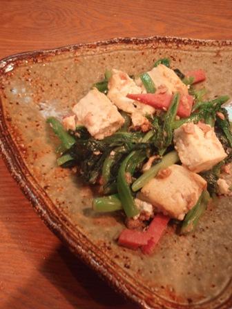 チャンプルー豆腐