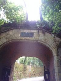 山荘美術館へ向かうトンネル
