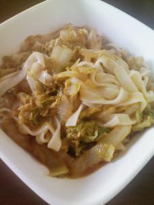 クミン味噌の白菜うどん