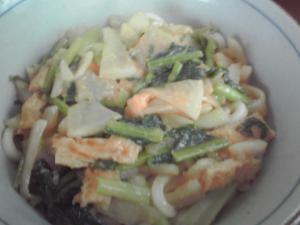 かぶの味噌うどん柚子胡椒風味