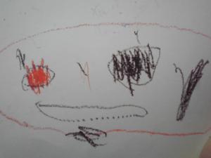 3歳のころの絵