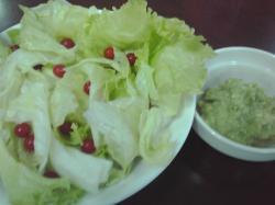 サラダで食べました