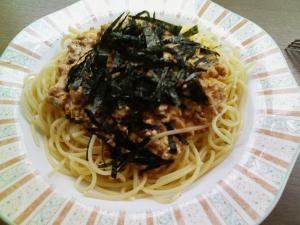 豆腐ガーリック味噌パスタ