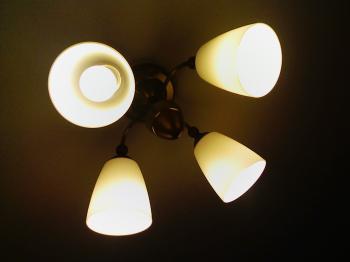付け替え前の照明