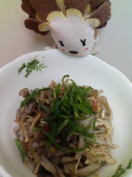 レンチン副菜☆舞茸の梅肉切干和え