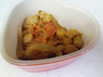 切干とヒヨコマメの和風味噌トマト煮