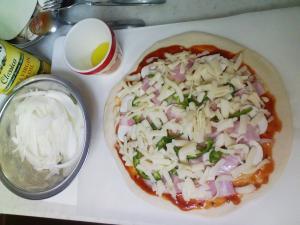 ピザも作ったよ