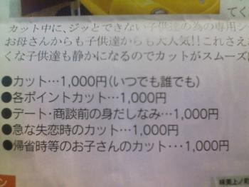 どんな理由でも1000円なのね
