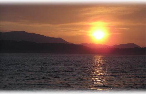 綺麗な夕日でした(*^^)v