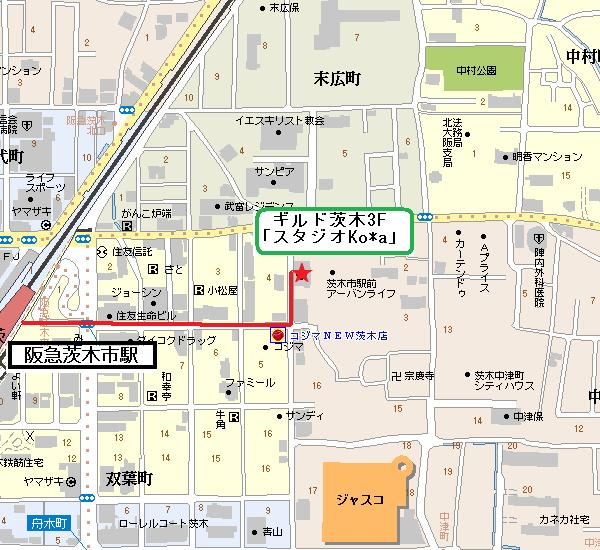 スタジオKoa地図