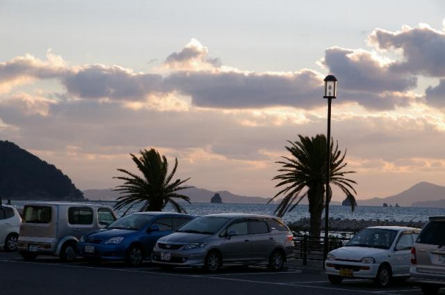 海辺の駐車場