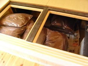 床下収納25袋