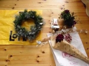 クリスマスリースを作ろう