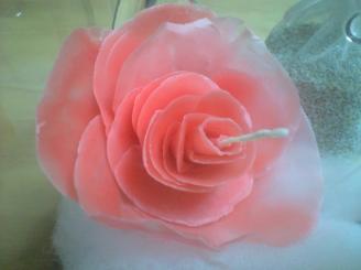 バラのキャンドル1