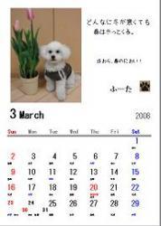 カレンダー見本3月