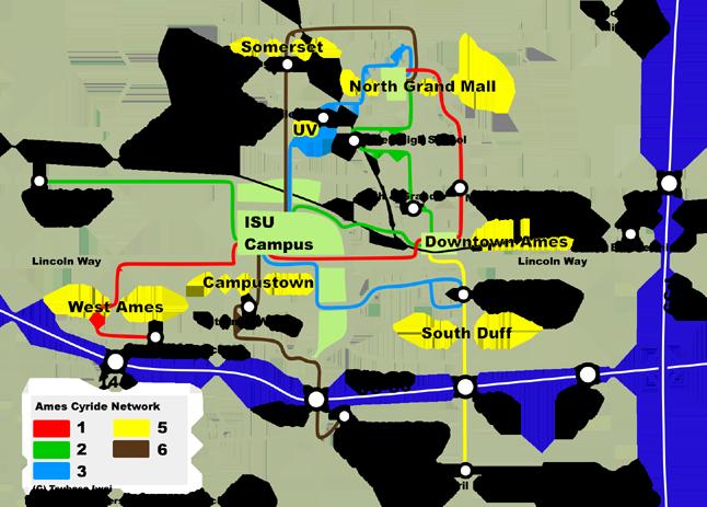 Cyride Map