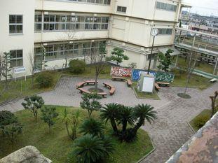 中学校中庭