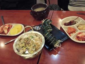 韓国初の食事