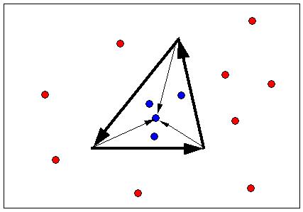 三角形の内側か外側かを調べる