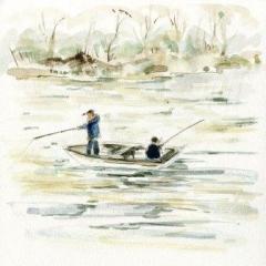 府中湖の釣り人