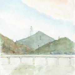 笠山と金山と