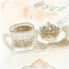 コーヒーにケーキセット