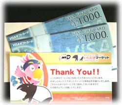商品券VISA