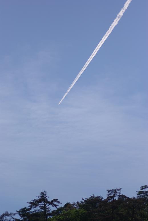 飛行機雲 2009.05.14