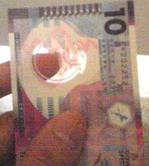 10ドル札が・・・