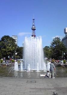 テレビ塔と噴水