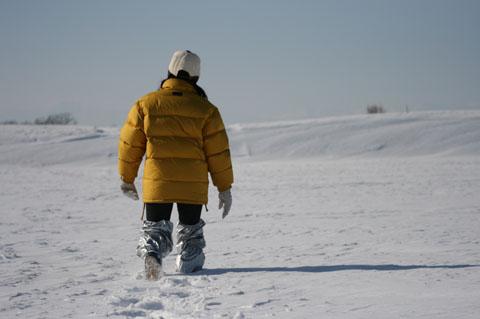 こんなに深い雪でした