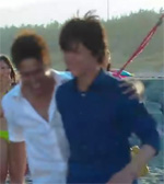 hug at beach