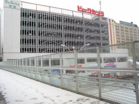 ビックカメラ新潟店の外観(新潟駅ビルCoCoLo南館)