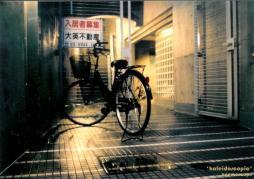 雨上がりと自転車