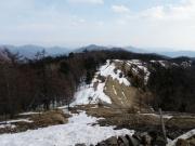 雲取から七つ石山方向の石山縦走路