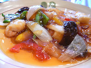 海老の甘酢炒め