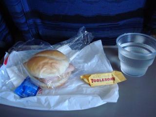 水とハムとチーズのハンバーグ