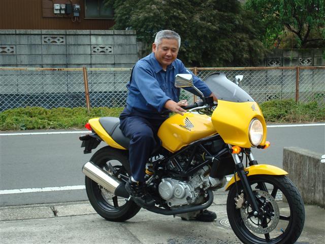 VTR250に乗る親父