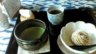 笠間市栗の家モンブラン抹茶セット