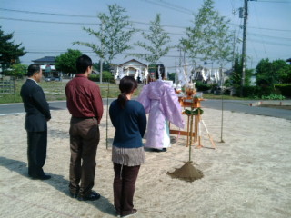 地鎮祭豊受神社祈祷いい家モダン