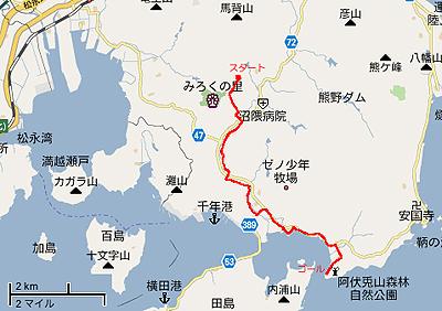 沼隈半島縦断ウォーキングコース地図
