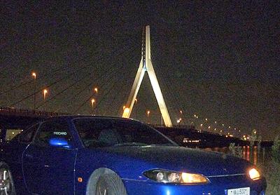 芦田川大橋とS15シルビア