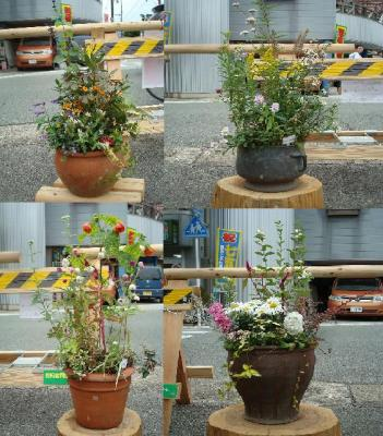 街角花飾り