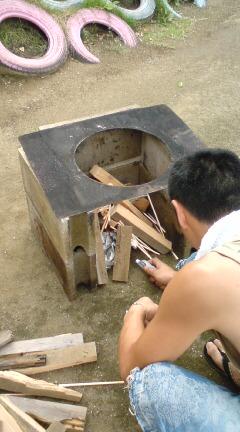 サマーキャンプ カレー作り1