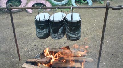 サマーキャンプ カレー作り