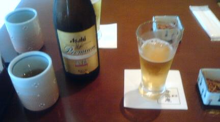 蕎麦屋でビール