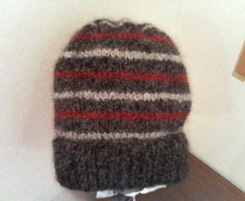 帽子2色縞