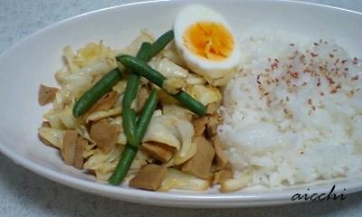 高野豆腐の野菜炒めプレート