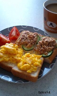 ツナ&卵トースト