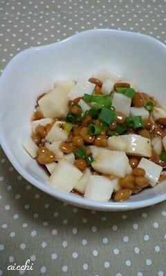 長芋と納豆のわさび醤油和え